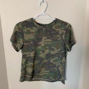 Camo Printed TopShop Petite T-Shirt